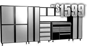 Garage Storage Unit  sc 1 th 154 & Do It Yourself Storage Cabinets Phoenix. Garage Makeovers by Slide-Lok