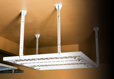 Diy metal overhead storage racks by slide lok of phoenix garage overhead storage solutioingenieria Gallery